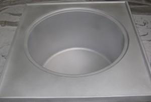 Cuve cuisine brossée microbillée